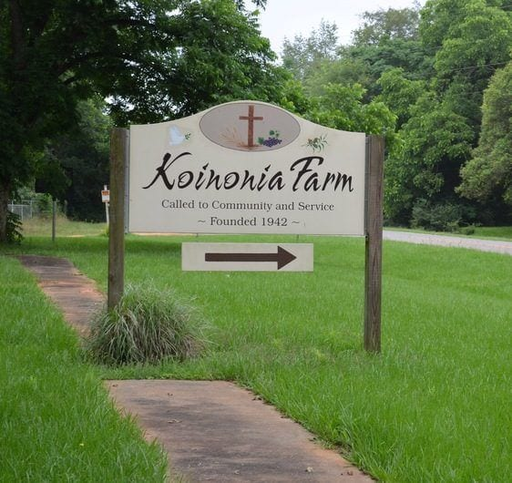 Koinonia Road Sign