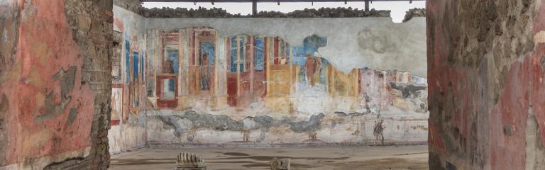Ancient fresco at Pompeii