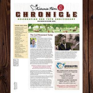 2018 Koinonia Newspaper Cover