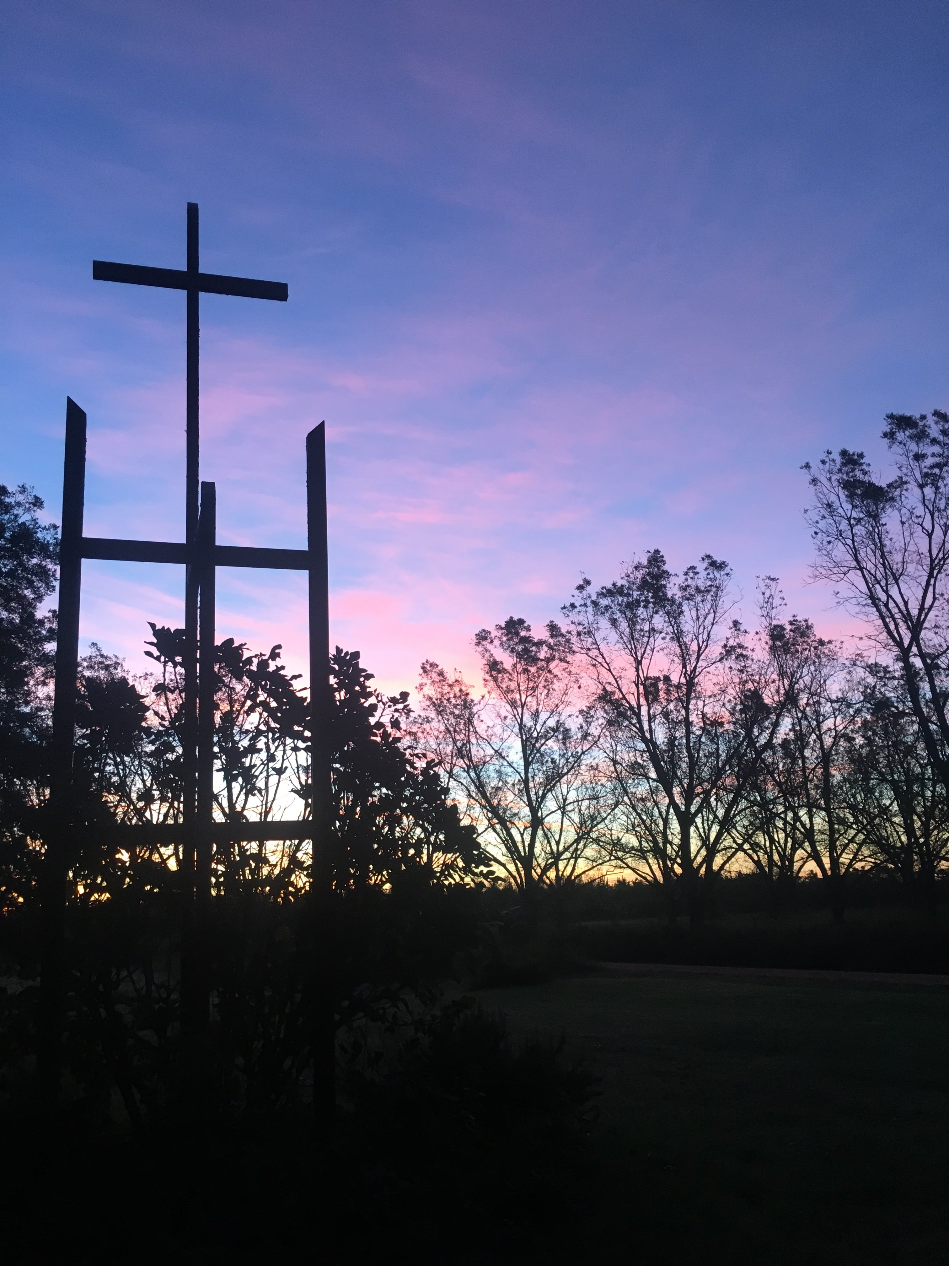 Sunrise over Koinonia Chapel