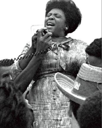 Fannie Lou Hamer singing