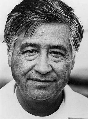 César Chávez black and white