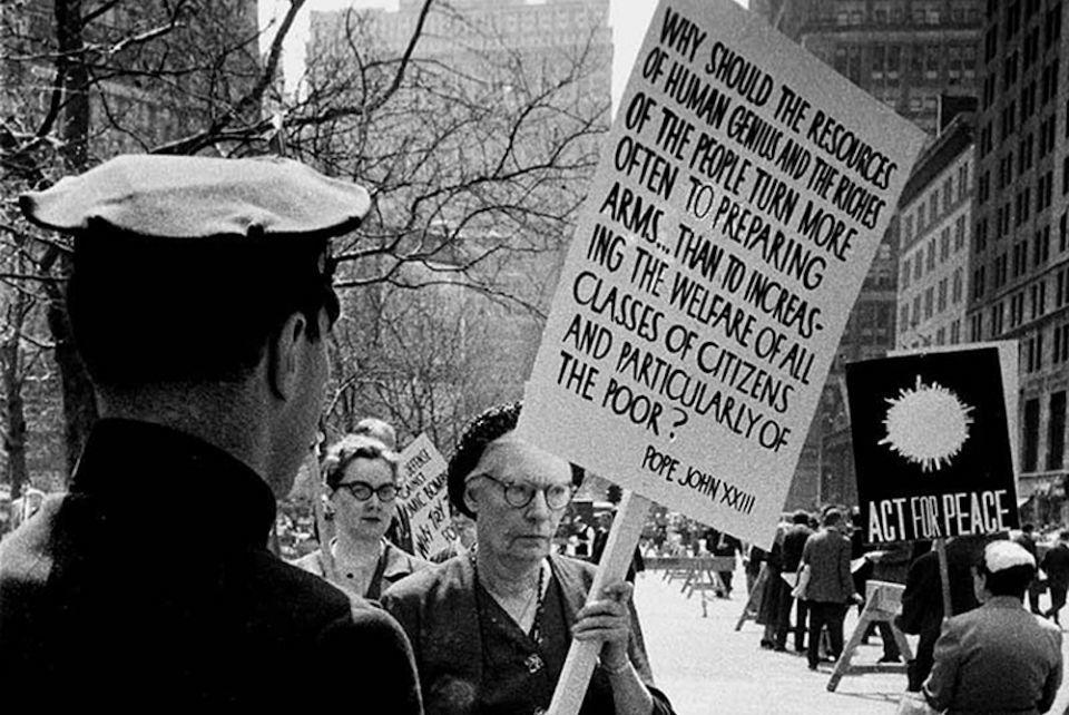 Dorothy Day protesting