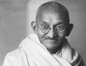 Gandhi black and white portrait