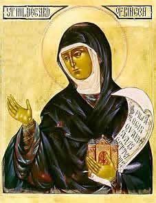 Hildegard of Bingen color icon