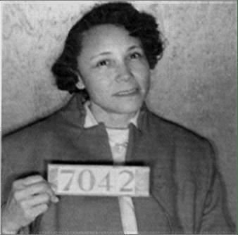 Jo Ann Robinson black and white mug shot