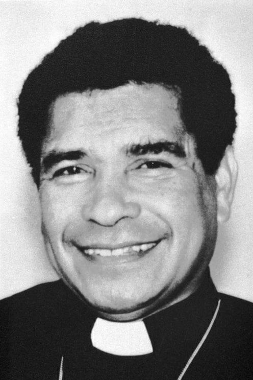 Bishop Belo black and white portrait
